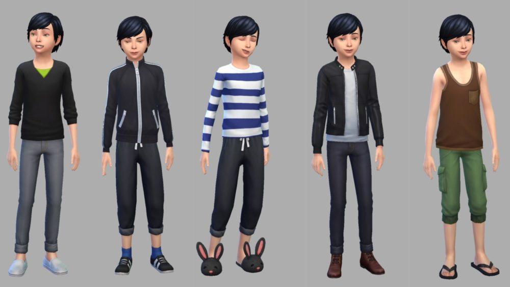 シムズ4_小学生の服装