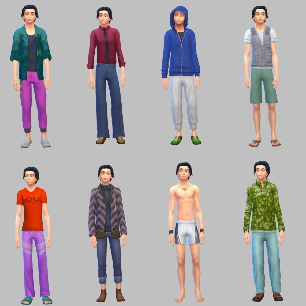 シムズ4_CAS変更前の服装