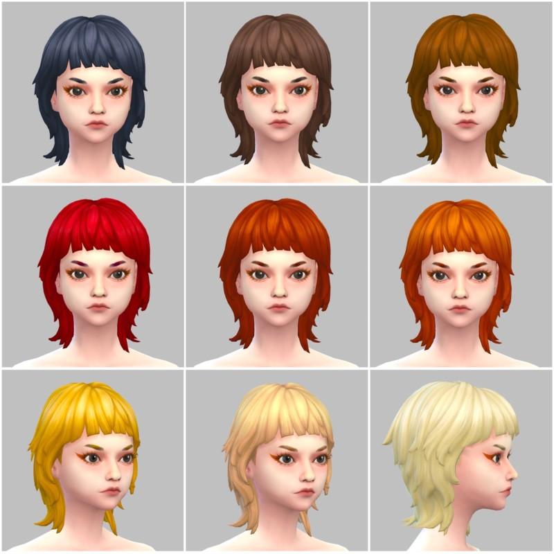 シムズ4_パラノーマルの髪型(マッシュウルフ)一覧