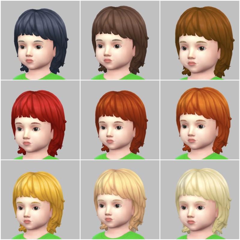 シムズ4_パラノーマルの幼児の髪型(マッシュウルフ)一覧