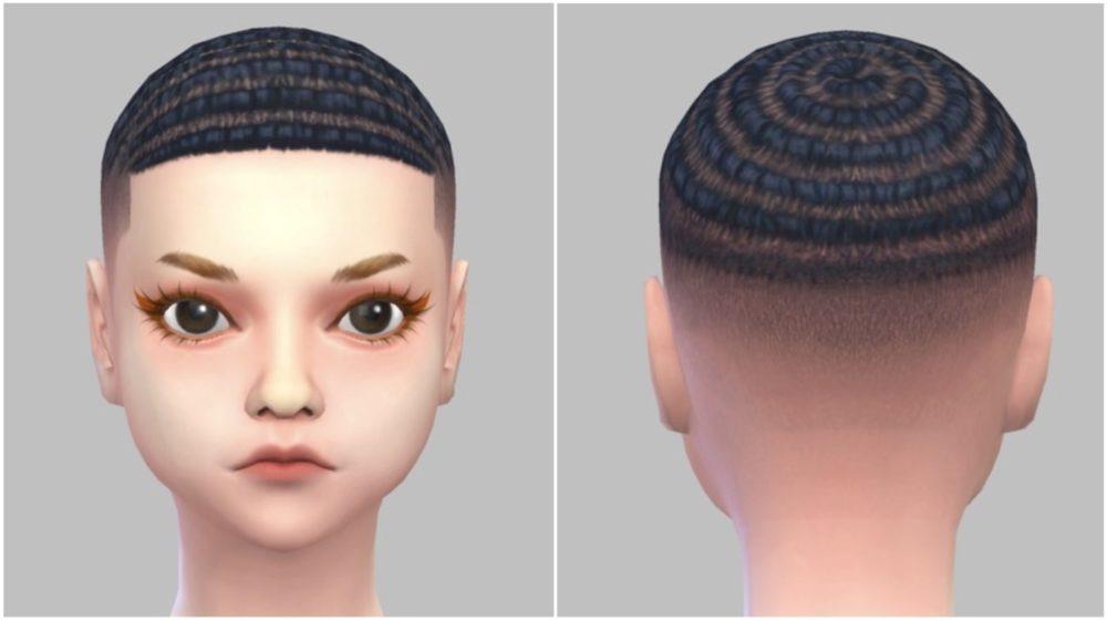シムズ4_パラノーマルの髪型(坊主)