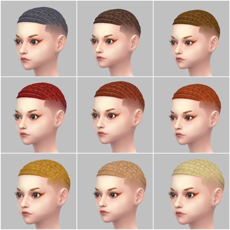 シムズ4_パラノーマルの髪型(坊主)一覧