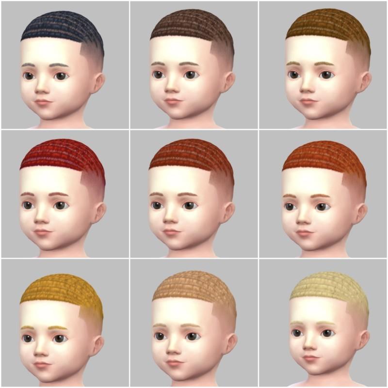 シムズ4_パラノーマルの幼児の髪型(坊主)一覧
