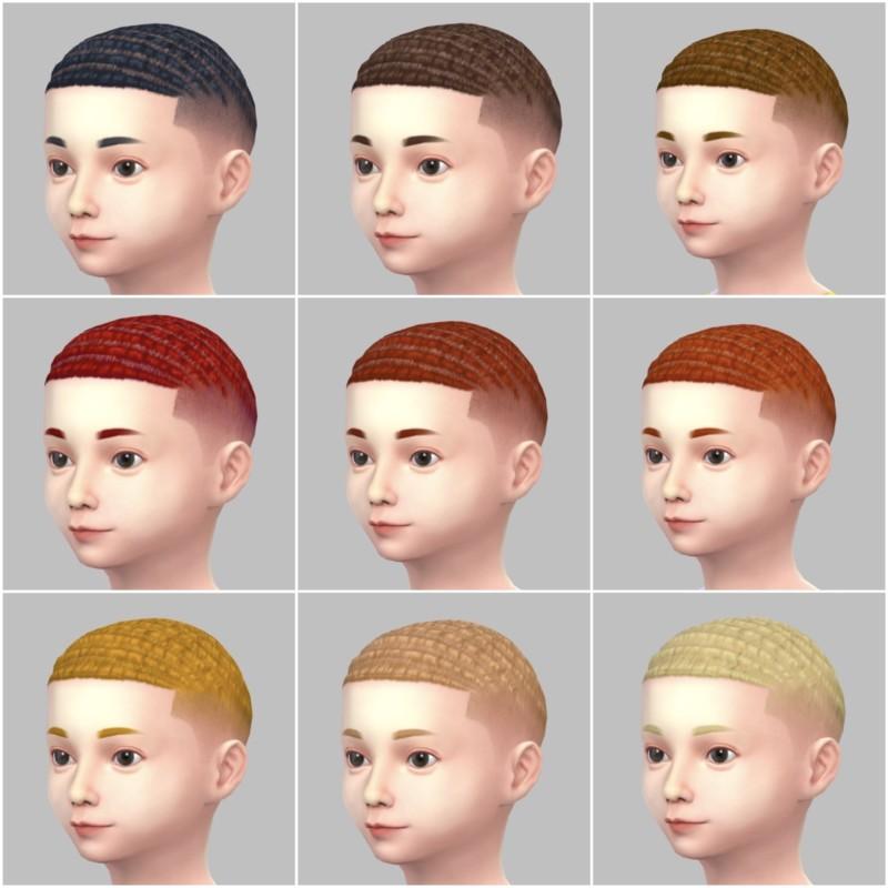 シムズ4_パラノーマルの子供の髪型(坊主)一覧