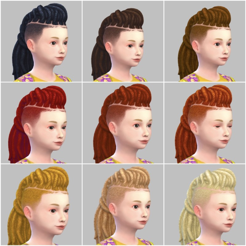 シムズ4_パラノーマルの子供の髪型(ドレッド)一覧