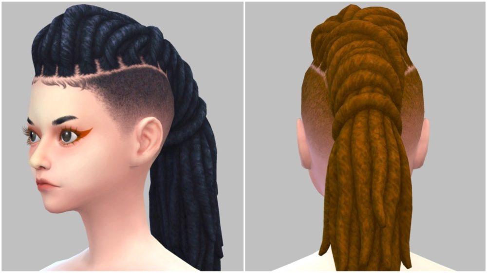 シムズ4_パラノーマルの髪型(ドレッド)