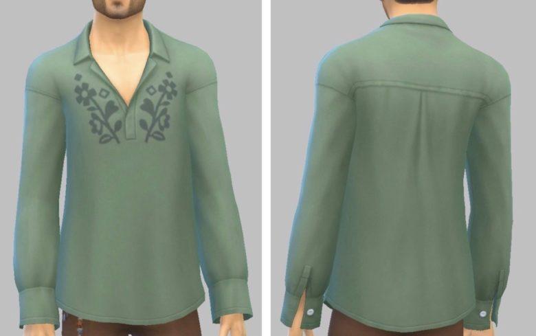 シムズ4_パラノーマルのスキッパーシャツ