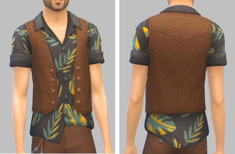 シムズ4_パラノーマルのシャツとベスト
