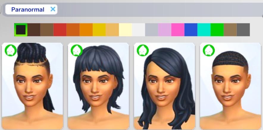 シムズ4_パラノーマルの髪型一覧