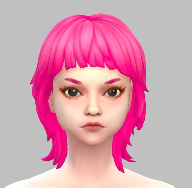 シムズ4_パラノーマルの髪型(マッシュウルフ)